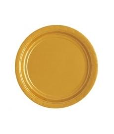 Borden goud 23 cm 16 stuks