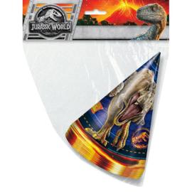 Jurassic World feesthoedjes 8 stuks