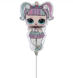 LOL Surprise unicorn folie ballon op stok 25cm