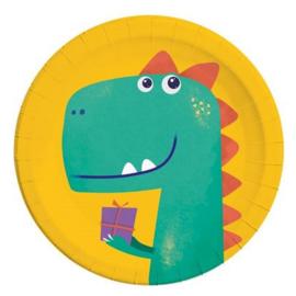 Dino borden 8 stuks 23cm