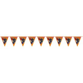Oranje leeuw slinger plastic 15m