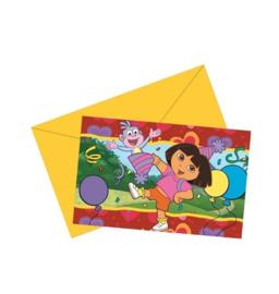 Dora uitnodigingen verjaardag