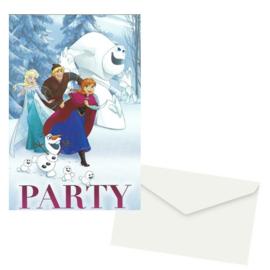 Frozen Snowflakes uitnodigingen