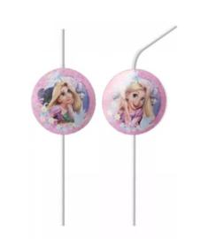 Prinsessen Rapunzel rietjes 6 stuks