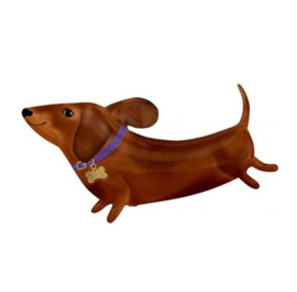 Hond teckel folie ballon 91cm