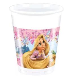 Rapunzel prinsessen bekers 8 stuks 200ml