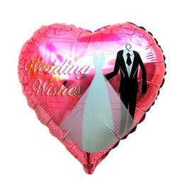 Folie ballon bruiloft wedding wishes