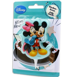 Mickey Minnie Mouse taartkaars 10x6x1cm