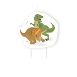 Dinosaurus verjaardagskaars 15cm