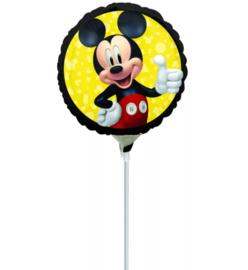 Mickey Mouse folie ballon op stok 25cm