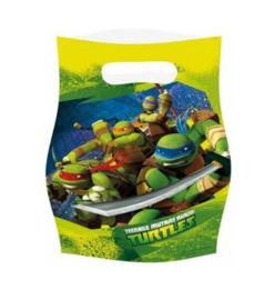 The Ninja Turtles feestzakjes 6 stuks