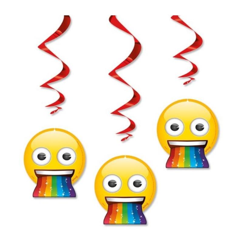 Emoji hangdecoratie 3 stuks 60cm