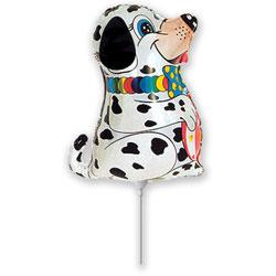 101 Dalmatier hond folie ballon op stok 35cm