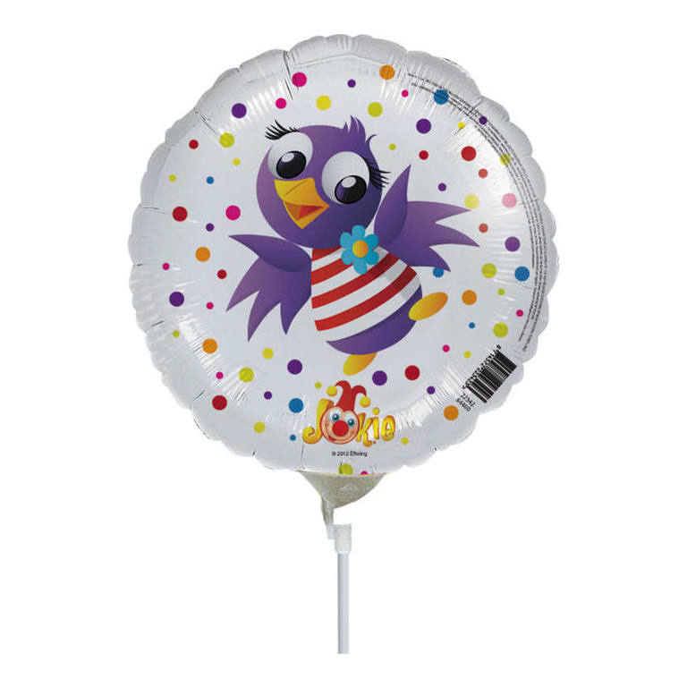 Jokie en Jet folie ballon 23cm op stok