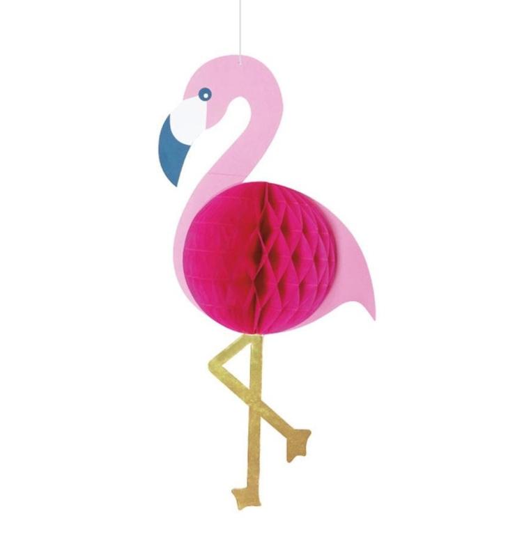 Flamingo honeycomb versiering  23x54cm