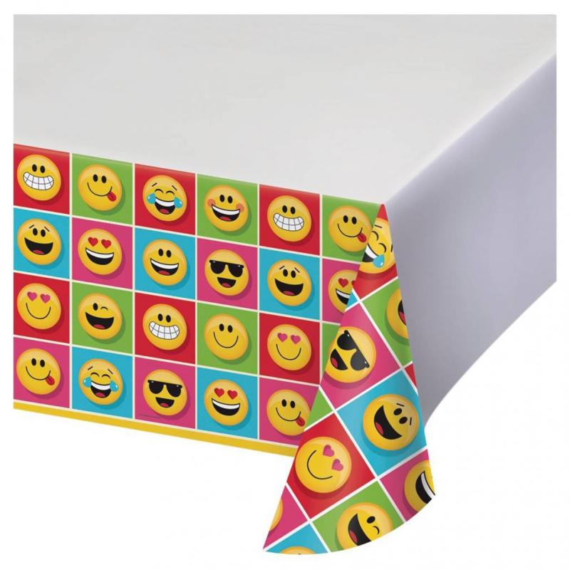 Emoji tafelkleed 137x259cm