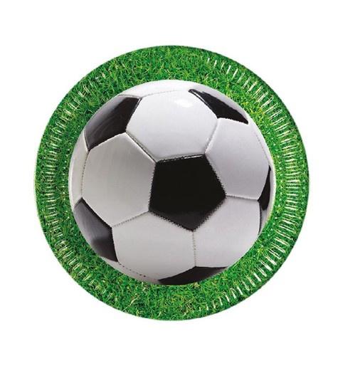 Voetbal borden 8 stuks 23cm