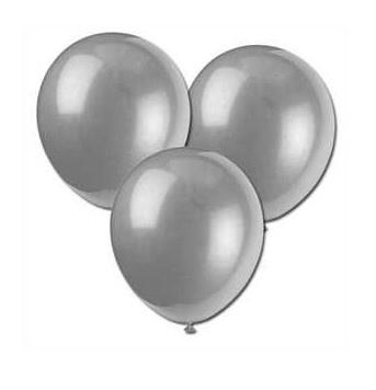 Ballonnen zilver  10 stuks