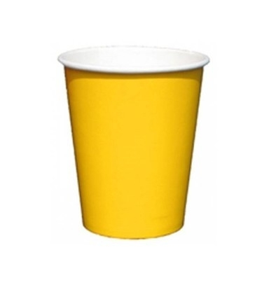 Bekers geel 8 stuks