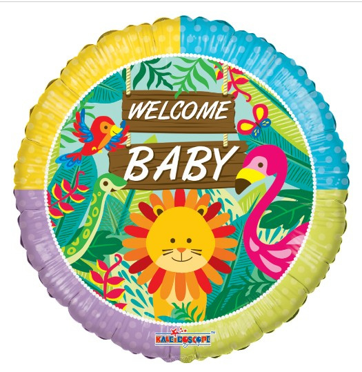 Welkom baby jungle folie ballon 45cm