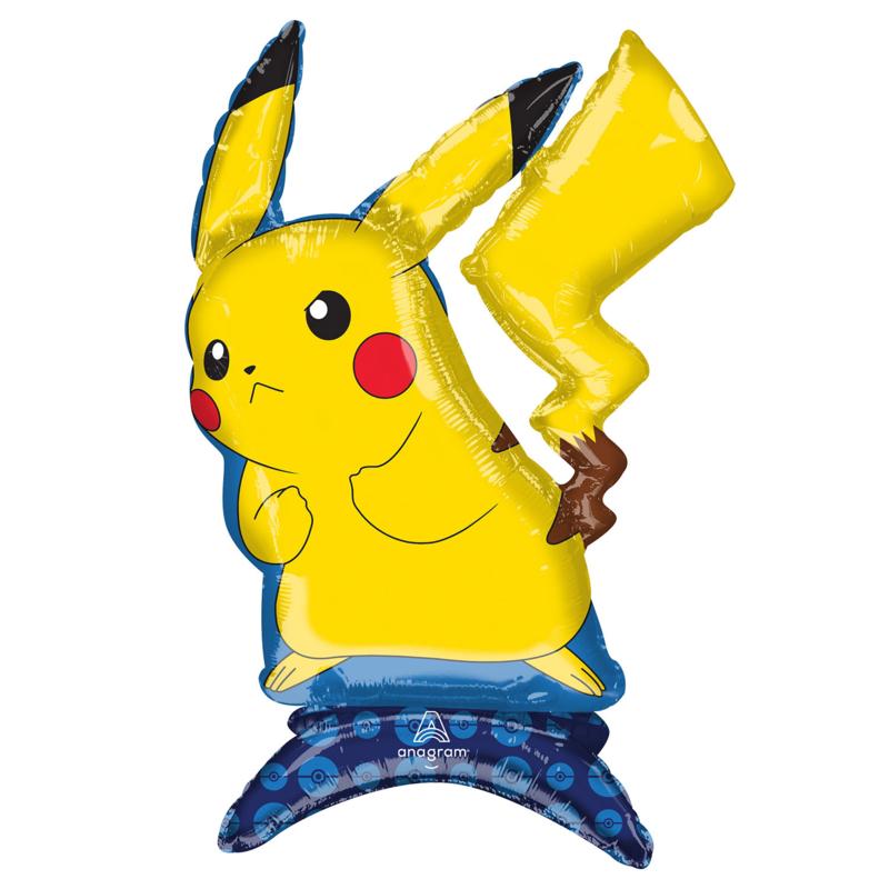 Pokemon Pikachu folie ballon op standaard 45x60cm