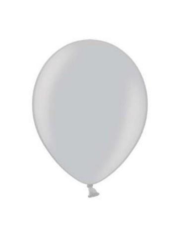 Ballonnen metallic zilver 25 stuks