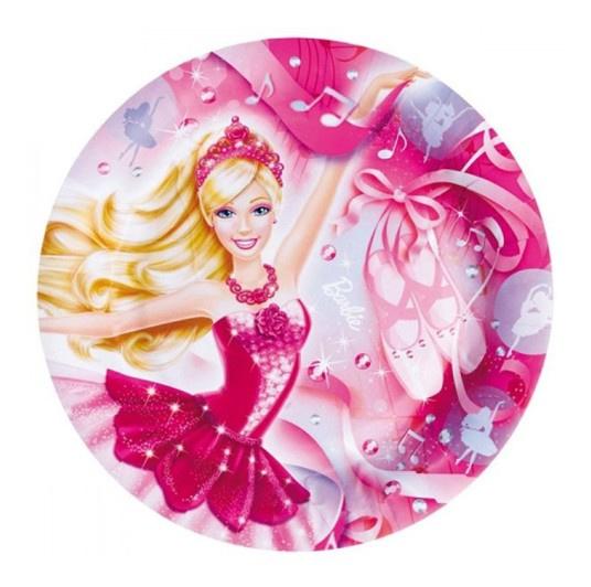 Barbie borden verjaardag 8 stuks