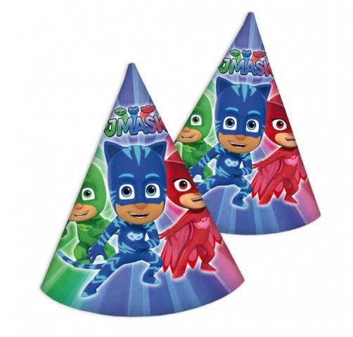 PJ Masks feesthoejes 6 stuks 16cm