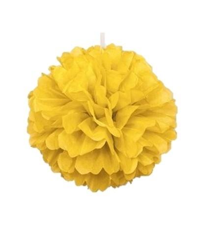 Puff deco geel 40 cm
