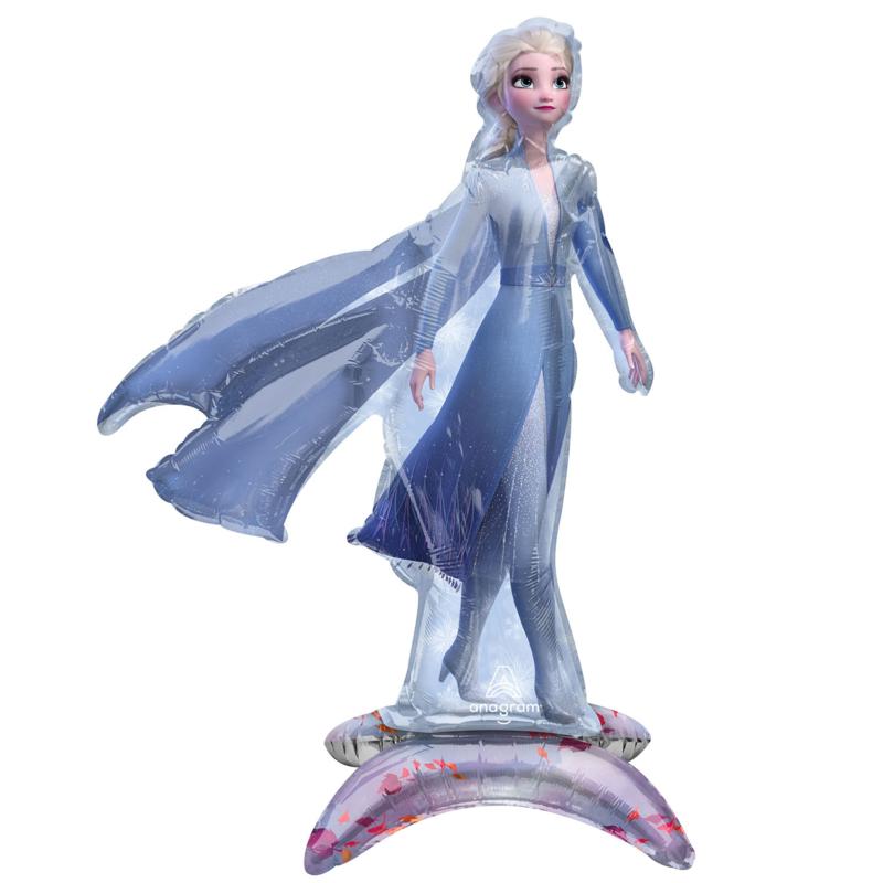 Frozen Elsa folie ballon op standaard 48x63cm