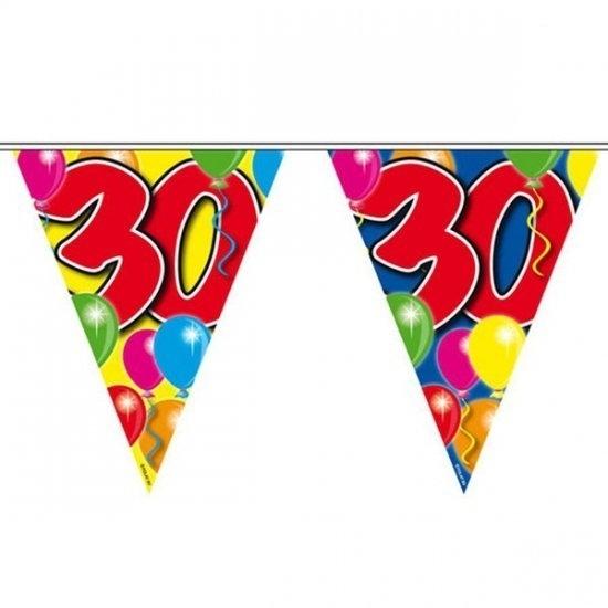 Wonderbaarlijk Vlaggenlijn slinger 30 jaar   Slingers vlaggenlijnen feest UU-06