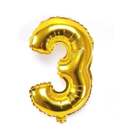 Folie ballon verjaardag 3 jaar