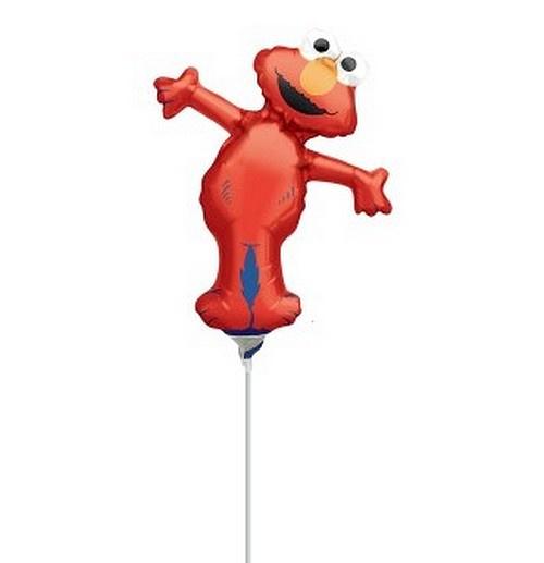 Elmo folie ballon op stok 25cm