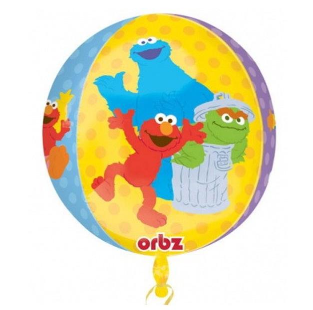 Sesamstraat folie ballon rond 45cm
