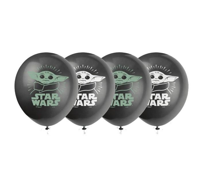 Star Wars baby Yoda ballonnen 8 stuks