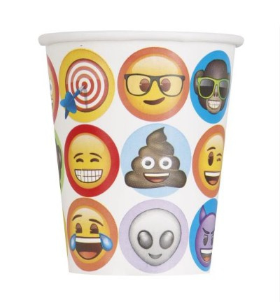 Emoji bekers 8 stuks 250ml