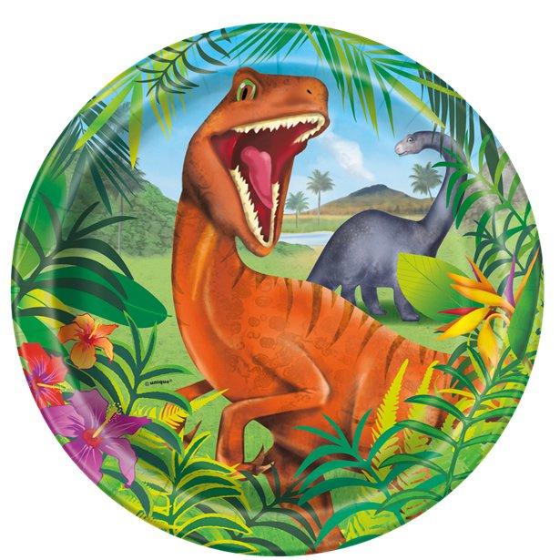 Dinosaurus borden 8 stuks 23cm