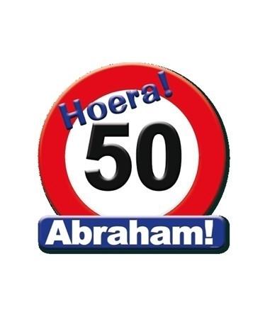 Ongekend Huldeschild Abraham 50 jaar verjaardag   Feestartikelen 50 jaar ZO-59