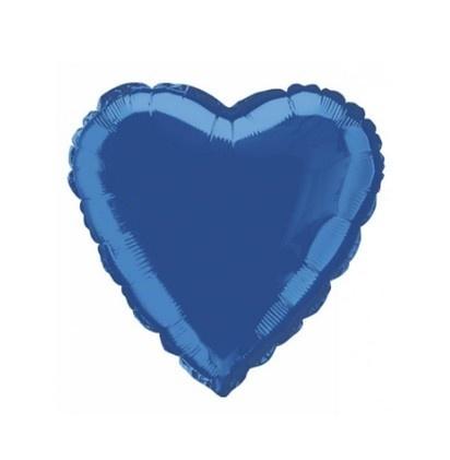 Folie ballon blauw hart