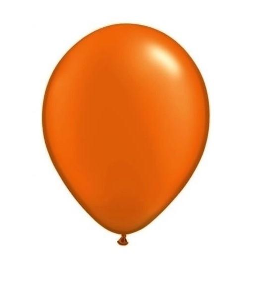 Oranje ballonnen 50 stuks