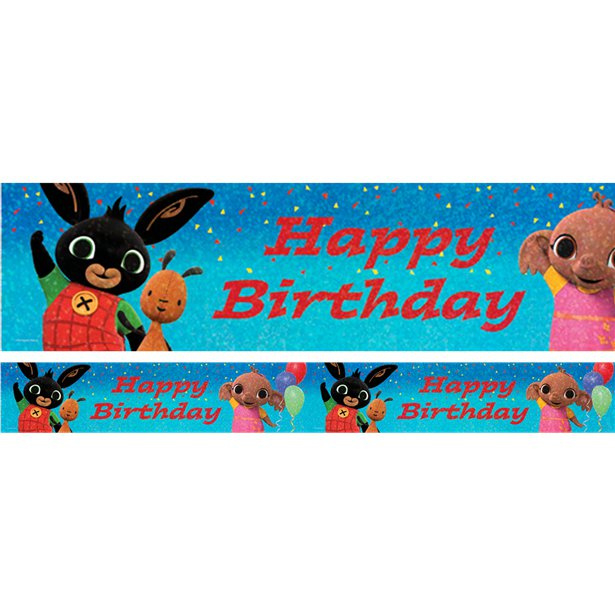 Bing konijn verjaardag banner 2,7m x 20cm