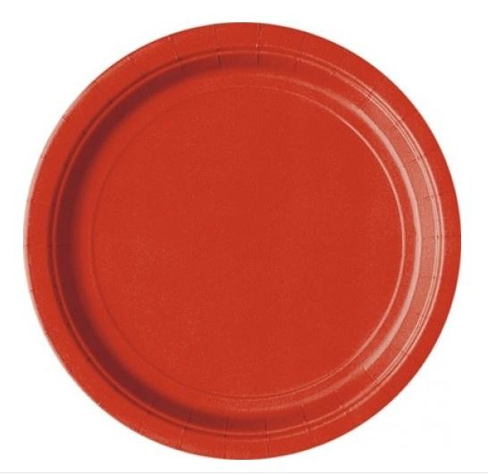 Borden rood 23 cm 8 stuks