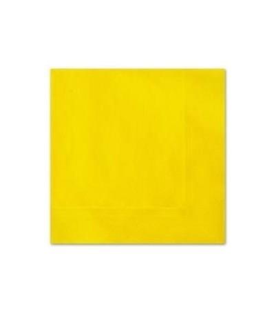 Servetten geel 20 stuks 33x33cm