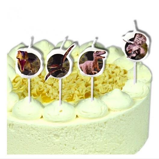 Dino kaarsjes taart 4 stuks