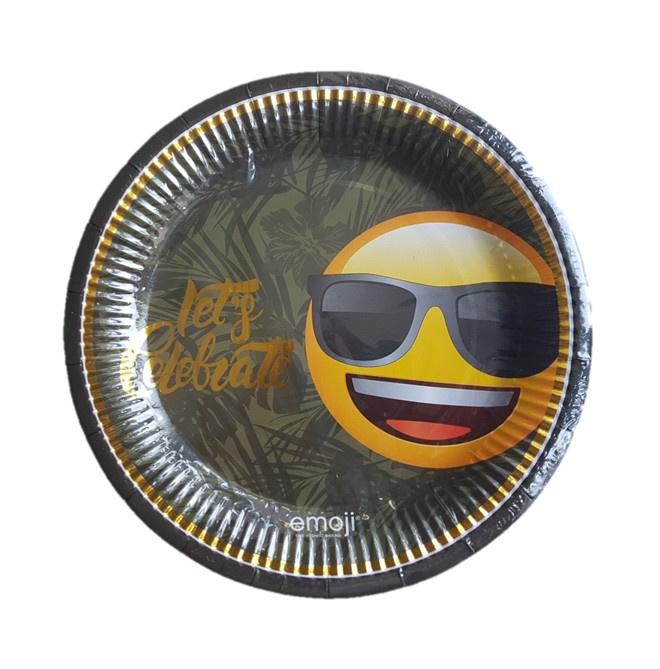 Emoji borden cool 6 stuks 23cm