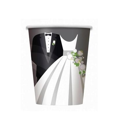 Bekers huwelijk 8 stuks
