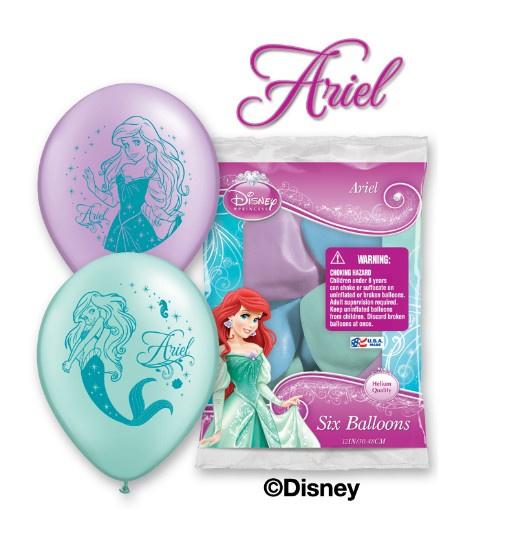 De kleine zeemeermin ballonnen 6 stuks 30cm