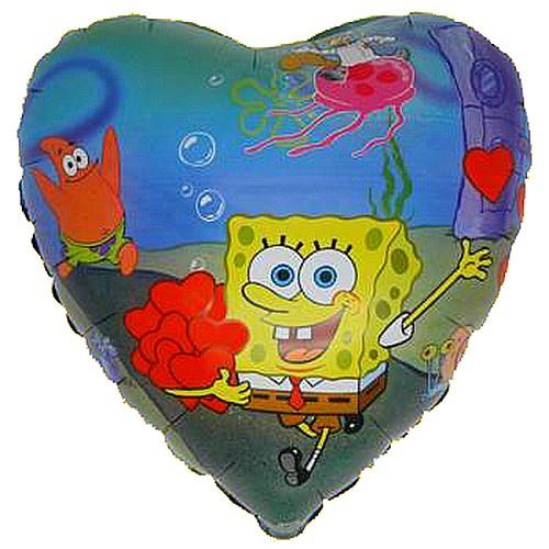 Spongebob hart folie ballon 45cm