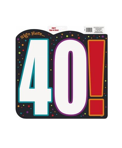 Schild verjaardag 40 jaar