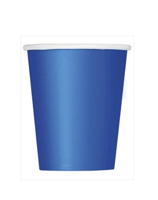 Bekers blauw 8 stuks